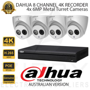 Dahua 4K 8 Channel Kit