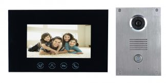 Platinum Intercom Flush Black Monitor