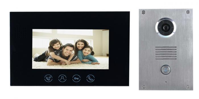 Platinum Intercom Flush Black Monitor