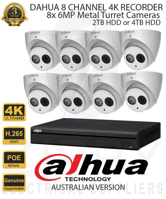 Dahua 8 Channel Kit with 8 Camera