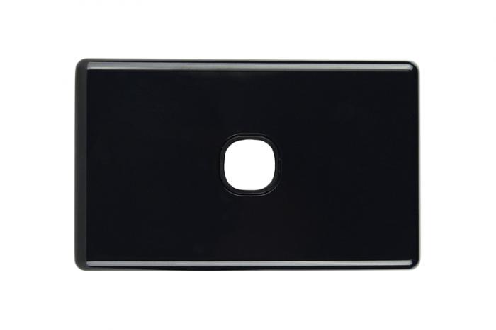 Single Gang Black Slimline Switch Plate